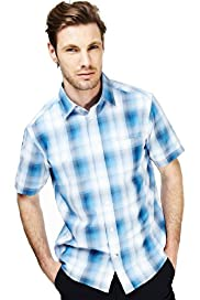 Soft Touch Tonal Checked Shirt with Modal