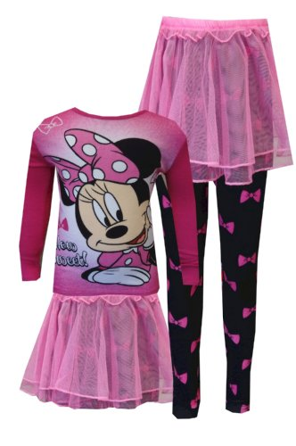 Disney Minnie Mouse How Sweet Toddler Pajama With Tutu for Little Girls