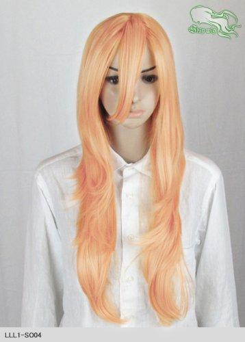 スキップウィッグ 魅せる シャープ 小顔に特化したコスプレアレンジウィッグ フェザーロング オレンジキャンディ