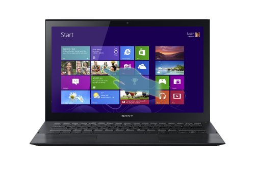 Sony VAIO Pro 13 SVP1321CPXB 13.3-Inch Touchscreen Ultrabook (1.6 GHz Intel Core i5-4200U Processor, 8GB DDR3, 128GB SSD, Windows 8 Pro) Carbon Black