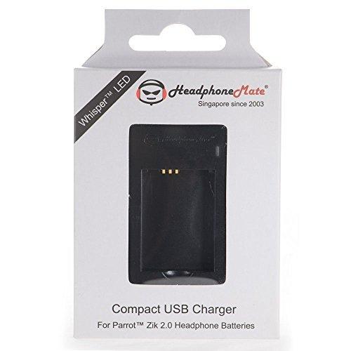 HeadphoneMate USB Powered Compact Charger for Parrot Zik 2.0, Parrot Zik 3 Headphones
