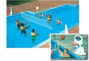 Pool Jam In Ground Swimming Pool Volleyball Basketball Game Toys Games