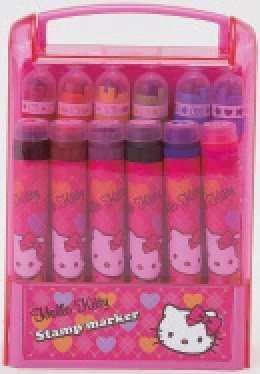 Hello Kitty Argyle - Write N Stamp Marker Set