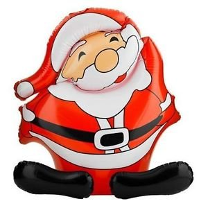 * Novelty Inflatable Santa Clause - Father Christmas Decoration - 50cm High Approx