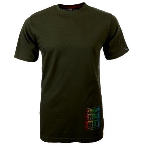 Vision Street Wear Multi Color Logo T-Shirt , beetle