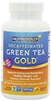 #1 Green Tea Extract – Green Tea GOLD, 500 mg, 120 Vegetarian Capsules – Decaffeinated Green Tea Fat…