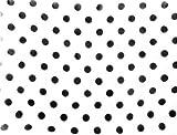 Pañuelo Estilo Años 50140x 45cm Lunares Blanco y Negro de adhesivo