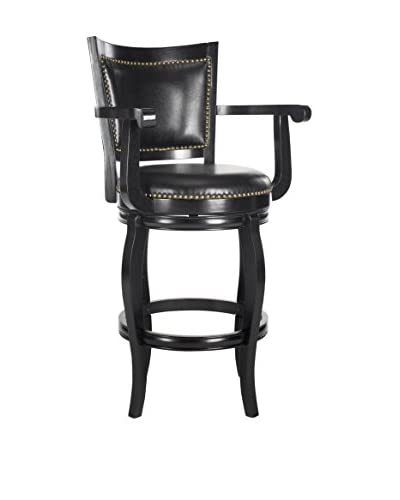 Safavieh Gitano Bar Stool, Black/Black