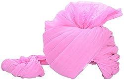 Jodhpuri Fashions Men's Cotton Turban (Pink, 8 Meters)