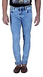 LAWMAN PG3 Men's Jeans (K-SPARK-7STR SLMFT ICE_36, Blue, 36)
