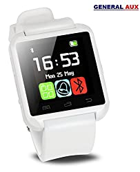 General Aux U8 A7 PLUS Touch, Bluetooth, BT Camera, Padometer, Altimeter SMART WATCH GEAR Smartwatch - MARBLE WHITE