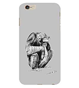 EPICCASE sad monkey Back Case Cover For Apple iPhone 6 Plus/6s (Designer Case)