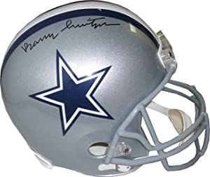 Barry Switzer Autographed Hand Signed Dallas Cowboys Full Size Replica Helmet by Hall of Fame Memorabilia
