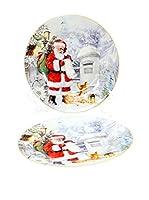 Decoracion Navideña Set Plato Llano 2 Uds. Navidad