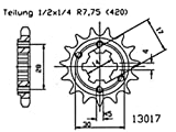Pinion gear 12 teeth