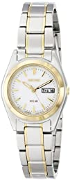 Seiko Womens SUT108 Analog Display Japanese Quartz Two Tone Watch