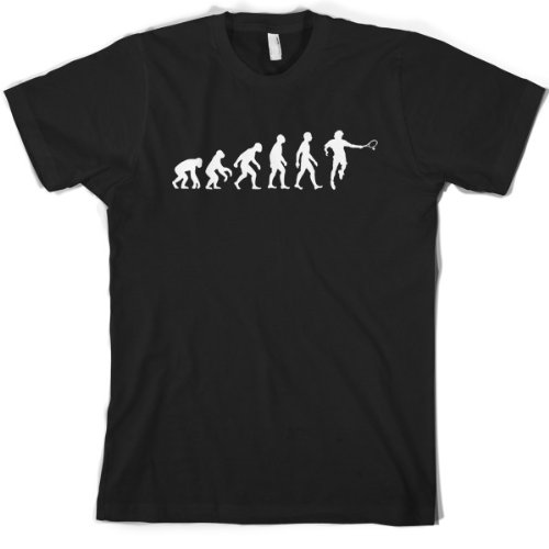 Evolution of Man - Men's Tennis T shirt - Dressdown- Large - Black
