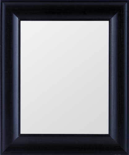 Bathroom Mirrors: Gallery Solutions Wide Black Mirror, 11 by 14-Inch