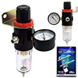 Airbrush Depot® Brand Airbrush Compressor AIR Regulator with Water-trap Filter, Now Included Is a (Free) How to Airbrush Training Book to Get You Started.