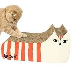 iCat アイキャット オリジナル つめとぎ しまネコ オレンジブラウン