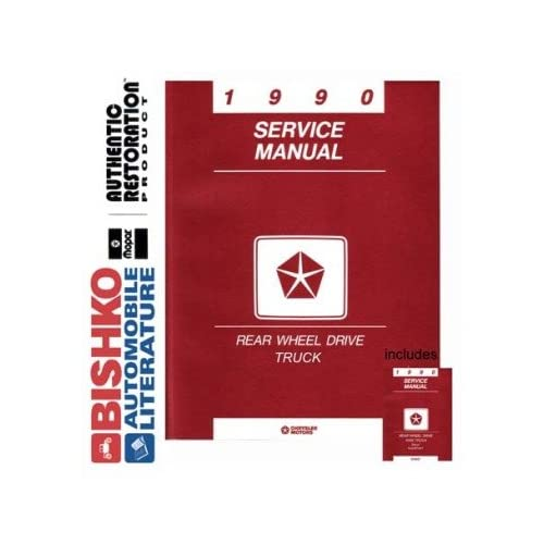 1990 Dodge Ram Pickup Truck Shop Service Repair Manual CD Engine Electrical