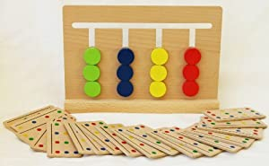 Toys of Wood Oxford Wooden Colour Sorting Jigsaw Puzzle Board Game -Brainteaser Puzzle Game