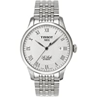 Tissot T41148333 Men's Le Locle Silver-Tone Watch with Textured Dial and Link Bracelet