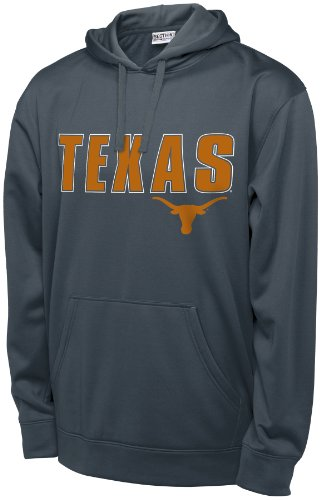NCAA Texas Longhorns Men's T-Formation Hooded Sweatshirt, Medium, Charcoal at Amazon.com