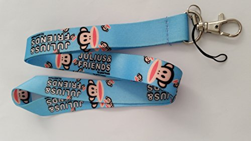 Julius and Friends Lanyard by Paul Frank - Blue Paul Frank Key Ring