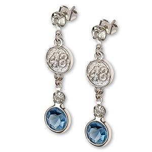 Buy Jimmie Johnson #48 Crystal Logo Earrings by Logo Art