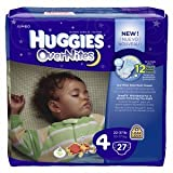 Huggies Overnites Diapers, Size 4 24 ea
