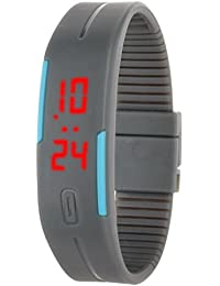 Fusine™ Digiband - Wristwatch With LED Display Suitable For Men, Women, Kids...(Grey)