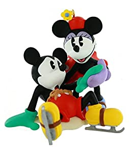 1997 New Pair of Skates Mickey and Minnie Disney Hallmark Ornament