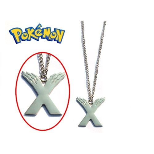 COLLANA LOGO POKEMON X NECKLACE METALLO