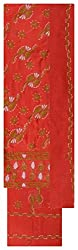 JAB FASHION WEARS Women's Cotton chikan Unstitched Dress Material (Red)