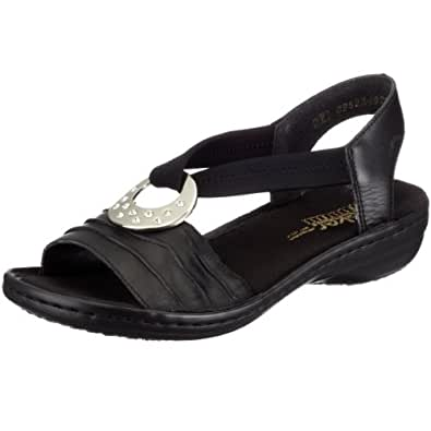 Rieker 60823 01, Sandales femme - Noir, 40 EU (6.5 UK) (8.5 US)