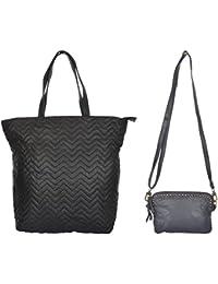 Ur Class Women's Handbag And Sling Bag (UC_17 + UC_29,Black And Blue)