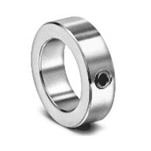 "Climax Metal LC-062 Steel Set Screw Collar, Lightweight Zinc Plating, 5/8"" Bore Size, 1"" OD, With 1/4-20 x 3/16 Set Screw"