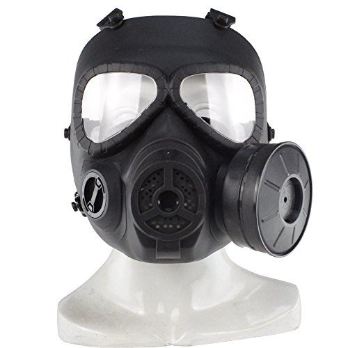 Wosport Tactical Airsoft Game Full Face Protection Safety Mask Guard Toxic Cs Gas Mask (Black) (Airsoft Gas Mask compare prices)