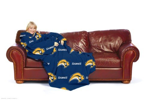 NHL Buffalo Sabres Comfy Throw Blanket with Sleeves at Amazon.com