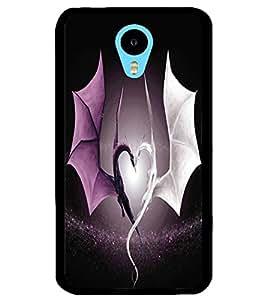 ColourCraft Beautiful Dragon Heart Design Back Case Cover for MEIZU M1 NOTE