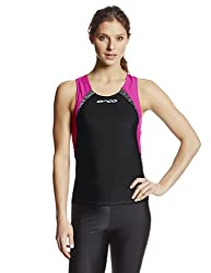 Orca Core Support Singlet, Black/Camellia, Large