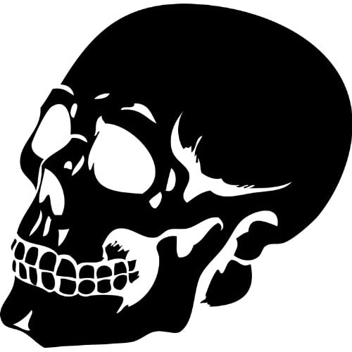 Scary Human Skull Silhouette Halloween Wall StickerHalloween Skull Silhouette