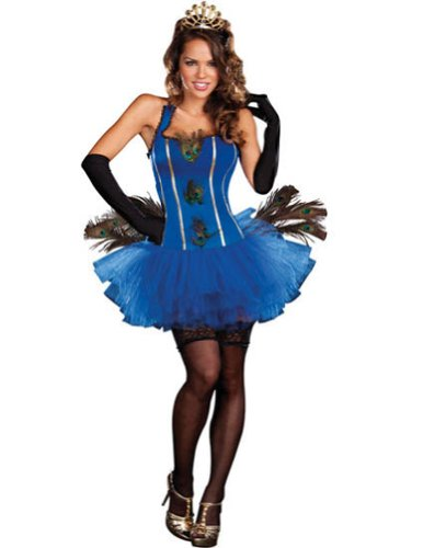 Adult-Costume Royal Peacock Md Halloween Costume - Adult Medium