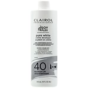 Amazoncom  Clairol Professional Soy4plex Pure White Creme Hair Color Develo