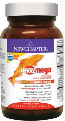 New Chapter Wholemega Whole Fish Oil 1000 Mg -60 Softgels