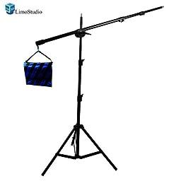 Limo Pro Studio Photo Studio 9 ft. Lighting Boom Light Stand Kit, Heavy Duty, Saddle Bag_AGG727