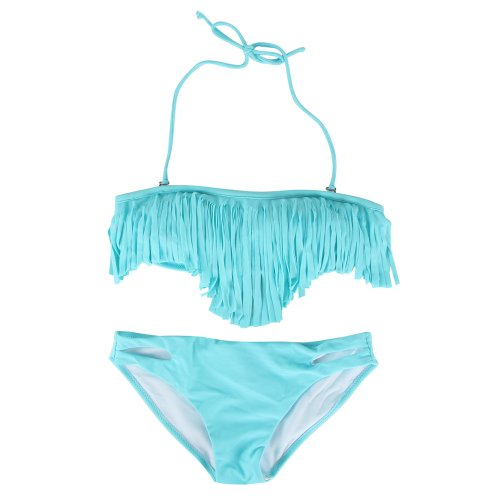 Your Gallery 2014 Hot New Tassel Padded Bandeau Fringe Bikini 2pcs Set Swimsuit Swimwear image