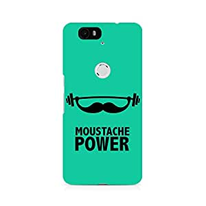 Ebby Moustache Power Premium Printed Case For Huawei Nexus 6P
