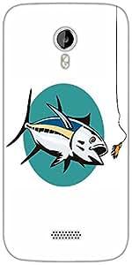 Snoogg albacore tuna fish retro Designer Protective Back Case Cover For Micromax A116